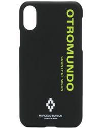Marcelo Burlon 'Otromundo' iPhone XS-Hülle - Schwarz