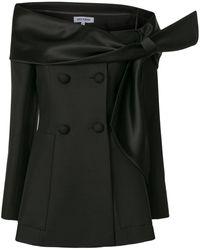 Dice Kayek Off-shoulder Fitted Blazer Top - Black