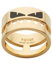 Fendi - Bugs Eye Ring - Lyst