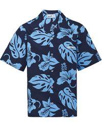 Prada Camisa hawaiana de manga corta - Azul