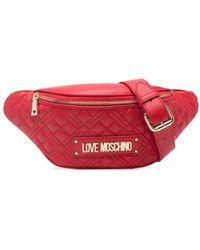 Love Moschino キルティング ベルトバッグ - レッド