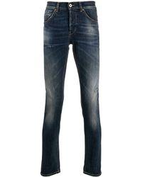 Dondup George Distressed Slim Fit Jeans - Blue