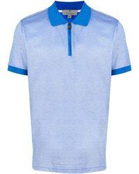 Canali Short Sleeved Polo Shirt - Blue