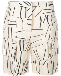 Victoria, Victoria Beckham | Printed Cargo Shorts | Lyst