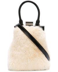 fb8fd10461 PERRIN Paris - Furry Shoulder Bag - Lyst