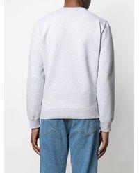 Maison Kitsuné Sweatshirt mit Big Fox-Stickerei - Grün