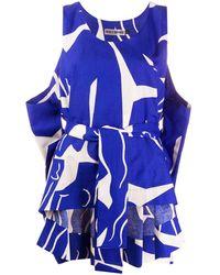 Issey Miyake Sleeveless Tie-waist Top - Blue