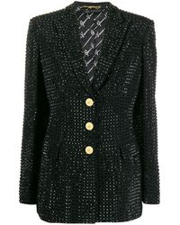 Versace Блейзер С Кристаллами - Черный