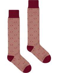 Gucci Носки С Узором GG - Красный