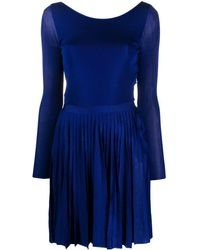 Dior 2000's プレオウンド プリーツ ドレス - ブルー