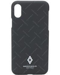 Marcelo Burlon IPhone XS-Hülle mit Logo-Print - Schwarz