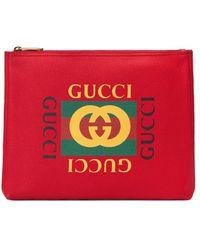 Gucci Папка Для Документов С Логотипом - Красный