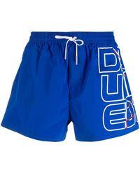 DSquared² ロゴ トランクス水着 - ブルー