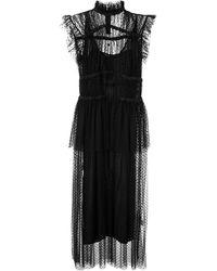 Romance Was Born シャーリング ドレス - ブラック