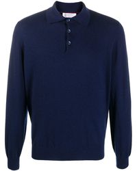 Brunello Cucinelli Knitted Polo Shirt - Blue