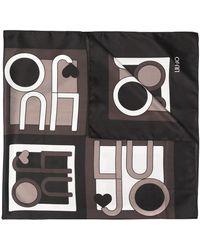 Liu Jo ロゴ スカーフ - ブラック