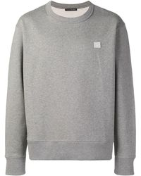 Acne Studios Fairview Face Sweatshirt - Gray