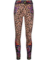Versace Jeans Couture Leopard-print leggings - Black