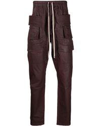 Rick Owens Drkshdw Drawstring-waist Trousers - Red