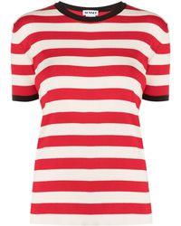 Sunnei ストライプ Tシャツ - レッド
