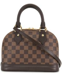Louis Vuitton Borsa Damier Ebène Alma BB two-way Pre-owned 2019 - Marrone