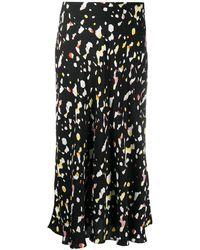 Ba&sh Tomy レオパード スカート - ブラック