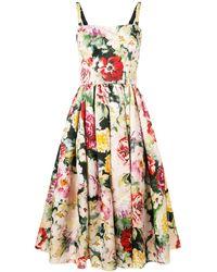Dolce & Gabbana - フローラル フレアドレス - Lyst