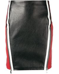 Alexander McQueen カラーブロック スカート - ブラック