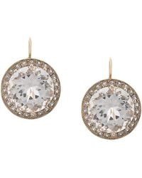 Andrea Fohrman - 18kt Yellow Gold, Rock Crystal And Lavender Sapphire Drop Earrings - Lyst