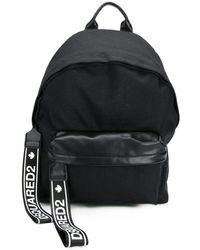 DSquared² Mochila con cinta del logo - Negro