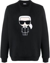 Karl Lagerfeld Sweatshirt For Men On Sale - Black