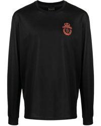 Billionaire Crest Embroidered Long-sleeve T-shirt - Black