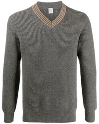 Eleventy Ribbed Cashmere Sweater - Gray