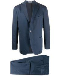 Boglioli Single Breasted Slim-fit Suit - Blue