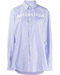 Balenciaga ストライプ シャツ - ブルー