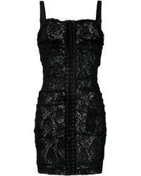 Dolce & Gabbana - レースアップドレス - Lyst