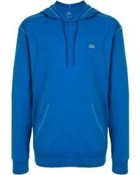 Lacoste Embroidered logo hoodie - Bleu