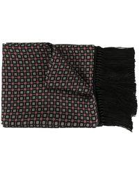 Dolce & Gabbana Bedruckter Schal mit Fransen - Schwarz