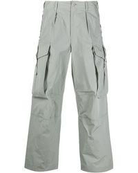 Attachment Pantalones tipo cargo rectos - Gris