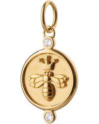 Monica Rich Kosann Queen Bee チャーム 18kイエローゴールド - メタリック