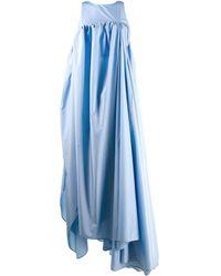 Nina Ricci Asymmetric Hem Gown - Blue