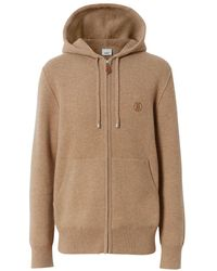 Burberry Embroidered Monogram Zipped Hoodie - Multicolour