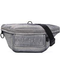 DIESEL Denim Triple-function Belt Bag - Metallic