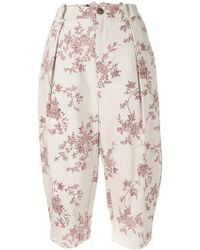 Aleksandr Manamïs - Floral Print Cropped Trousers - Lyst