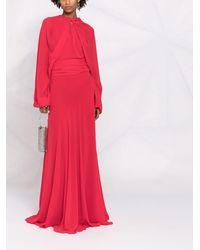 Maison Margiela Вечернее Платье С Длинными Рукавами - Красный