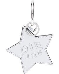 DIESEL Metallic Star Keyring - Pink