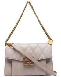 fa2945a3dd21 Givenchy - Nude Gv3 Quilted-leather Shoulder Bag - Lyst