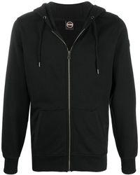 Colmar Zip-up Jersey Cotton Hoodie - Black
