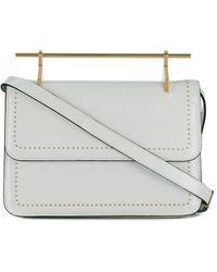 M2malletier Leather Shoulder Bag - White