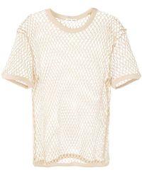 Cmmn Swdn Beige Fishnet T-shirt - Natural